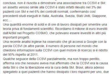 Sclerosi Multipla e CCSVI: rivelazioni sullo studio Cosmo di Aism