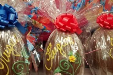 Riciclo uova di Pasqua, torta cioccolato e limone