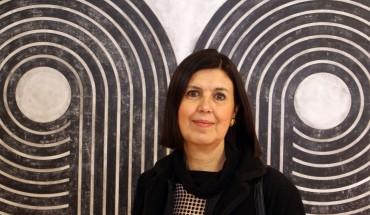 il soprintendente arch. Francesca  Casule durante l'inaugurazione della mostra face to face a salerno
