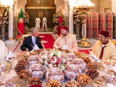 Presidente portoghese Rebelo de Sousa in Marocco