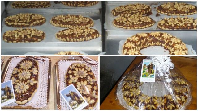 Panisceddu, il tipico dolce di uva, sapa e frutta secca  ph Comitato 77 Ortueri