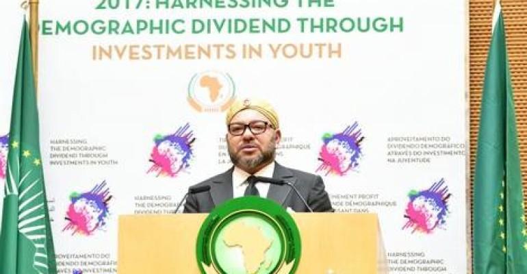"""Il Re Mohammed VI del Marocco al 28esimo vertice dell'UA. """"Dare la leadership all'Africa"""""""