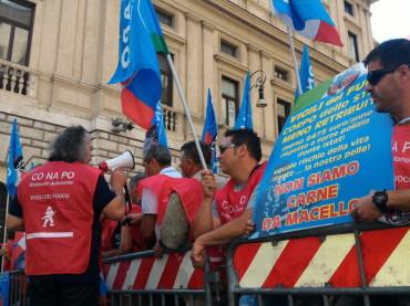Vigili del Fuoco: Conapo la protesta a Montecitorio