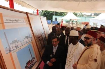 """Avvio della costruzione della """"Moschea Mohammed VI"""" in Costa d'Avorio."""
