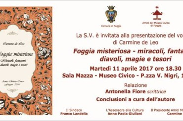 """La """"Foggia misteriosa"""" di Carmine de Leo. La presentazione del libro"""