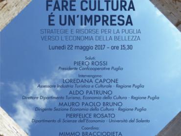 """Workshop di Confcooperative Puglia """"Fare cultura è un'impresa"""""""