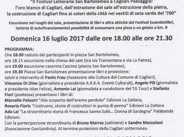 A Cagliari Paesaggio anche il Festival Letterario San Bartolomeo