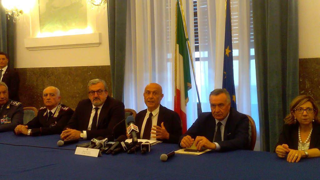 Durante conferenza stampa in Prefettura a Foggia (foto N. Baratta)