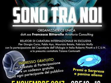 """6° CONVEGNO DI UFOLOGIA CITTA' DI POMEZIA """"SONO TRA NOI"""", 5 NOVEMBRE 2017 SIMON HOTEL"""