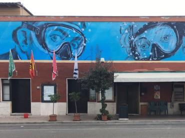 Monteriggioni: a Castellina Scalo la più grande opera di Street Art firmata da BLUB