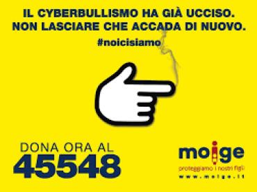 """Cyberbullismo , parte la campagna del MOIGE """"#NOI CI SIAMO"""""""