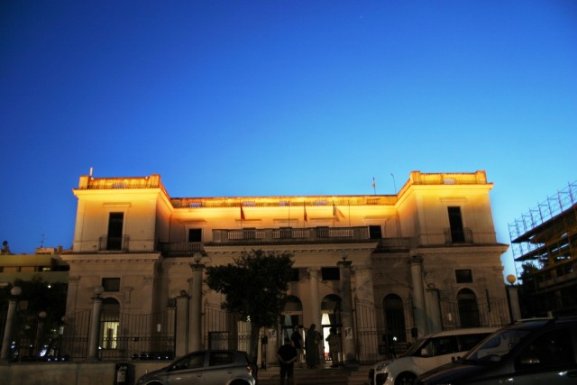 False Sunset_Giulianova sulla facciata del vecchio Lido Kursaal_28052015
