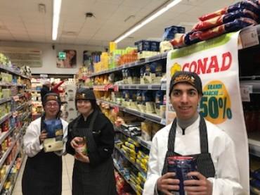 """Gli special chef della cucina del """"Sorriso"""" brand ambassador di Conad"""
