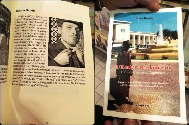 """""""L'Emigrante laureato. 100 eccellenze di Capitanata"""", scritto da Ettore Braglia ed edito da Bastogi libri (foto N. Baratta)"""
