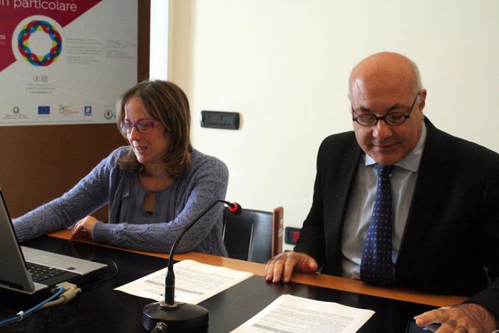 la dott.ssa Granese insieme a Michele Faiella durante la conferenza stampa