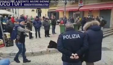 [Il luogo dell'omicidio - fotogramma video Agenzia FotoGiornalistica Luca Turi]