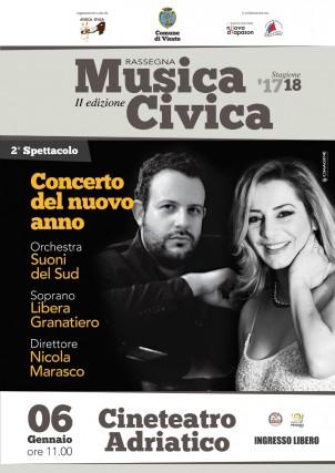 Manifesto Concerto Capodanno Vieste