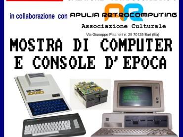 [Apulia Retrocomputing] Mostra di Console e Computer d'epoca il 28 gennaio a Galatone