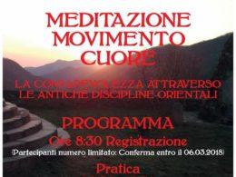 Kipewa e Jampa Tashi l'11 marzo 2018 a Rezzo per un seminario dal titolo  'Meditazione, Movimento, Cuore'