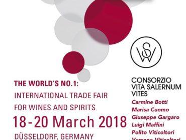 I vini salernitani al ProWein di Düsseldorf con il Consorzio Vita Salernum Vites