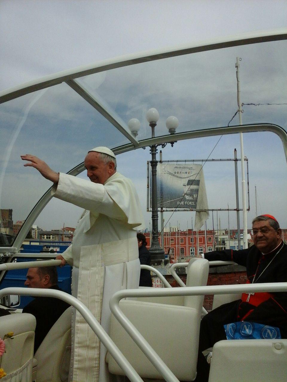 Papa Bergoglio, Napoli 21 marzo 2015 archivio