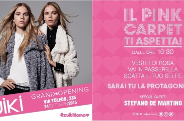 UN PINK PARTY PER L'OPENING ZUIKI A NAPOLI IN VIA TOLEDO