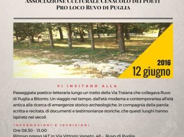 Storie lungo la Via Traiana Passeggiata storico – letteraria
