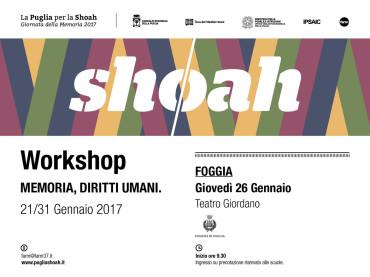 """Foggia. """"Giornata della Memoria 2017"""": il Comune ospita al """"Giordano"""" il workshop itinerante promosso dalla Teca del Mediterraneo"""