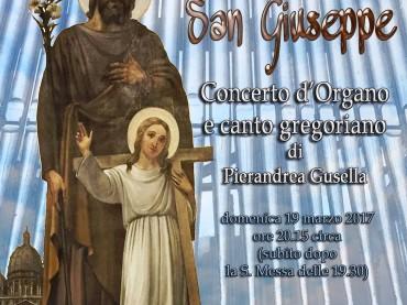 """""""Per San Giuseppe"""", a Foggia il 19 marzo concerto d'organo e canto gregoriano di Pierandrea Gusella"""