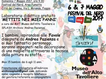 """Con il MAT Museo di San Severo con SPLASH a Foggia il """"Festival del Nerd"""""""