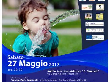 Acqua Pubblica, Acqua Pulita Incontro ad Alezio