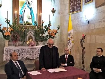 SASSARI – Il simulacro di Nostra Signora del Buon Cammino sull'altare papale