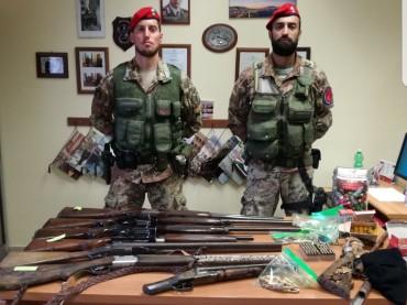 Vieste, 63enne deteneva armi di provenienza illecita. Arrestato a Vieste dai Cacciatori Calabria