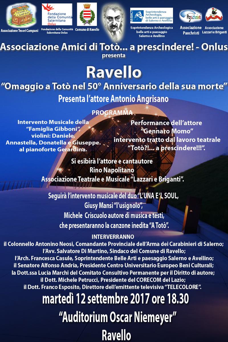 All . 3 - locandina definitiva manifestazione del 12 settembre all'Auditorium di Ravello