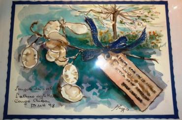 Cartellini dipinti e appesi in Liguria Bruno Chiarlone Debenedetti