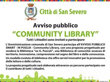 """San Severo (FG), """"Community Library"""". Giovedì 26 ottobre un incontro in Biblioteca con i dirigenti scolastici"""