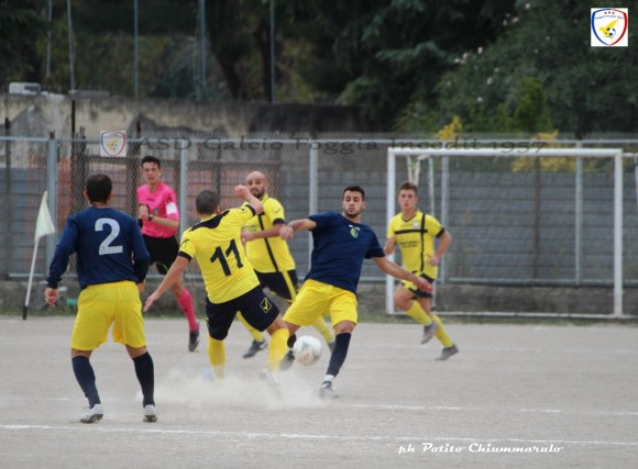 Durante la partita (foto Foggia Incedit)