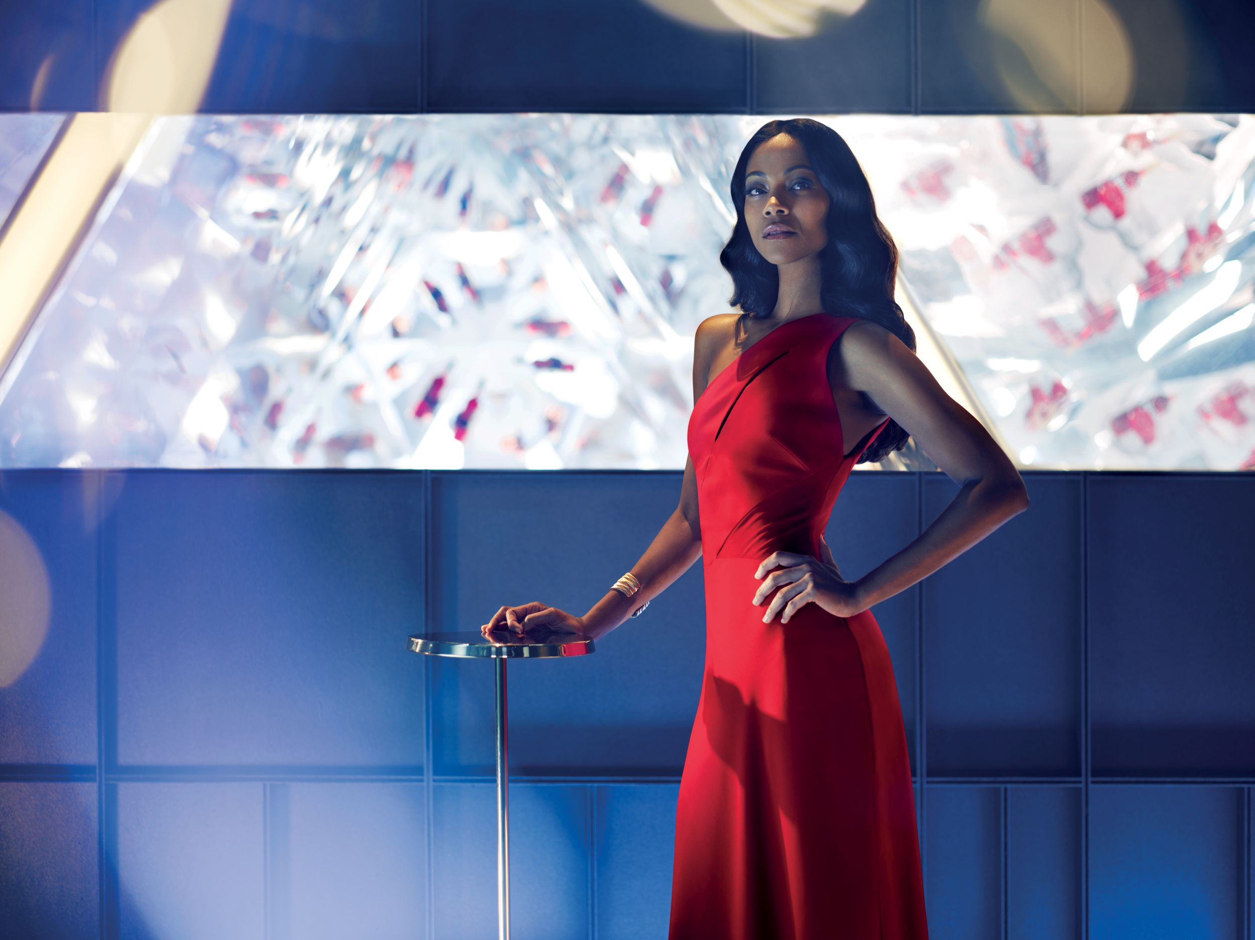 Lead protagonist Mia Parc, played by Zoe Saldana, in The Legend of Red Hand short movie for Campari