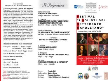 """""""I Solisti del Settecento napoletano"""":  concerto domani ad Assisi diretto dal M°Pasquale Menchise"""