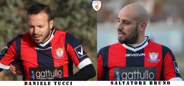 [Tucci e Bruno i due goleador del Foggia Incedit - foto Foggia Incedit]