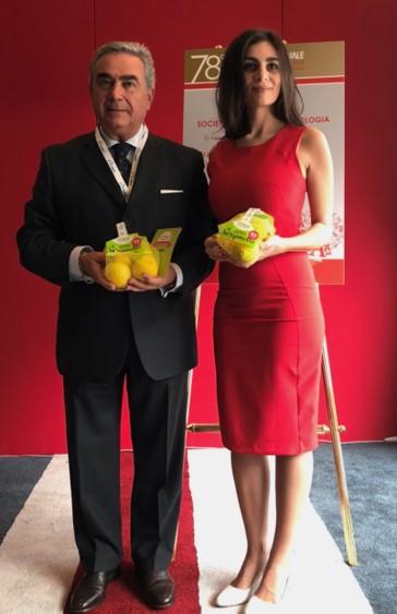 il prof. Vincenzo Montemurro e la Ceo di Citrus, Marianna Palella, al 78° Congresso del SIC