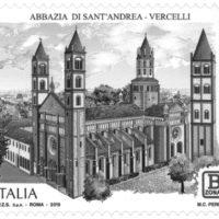 Emissione francobollo Abbazia di Sant'Andrea di Vercelli