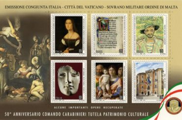 Emissione francobolli Comando Carabinieri Tutela Patrimonio Culturale