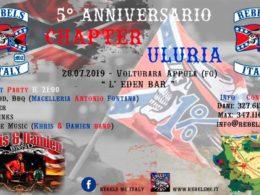 """""""Chapter Uluria"""", a Volturara Appula il 5° anniversario con i biker della Rebels Italy. Tutti in sella…"""