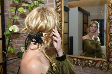 La top model Andreea Duma interpreta la romantica delicatezza di Fabiana Gabellini